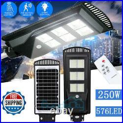 1/2X 990000LM 250W LED Solar Street Light Commercial IP67 Dusk-Dawn Road Lamp