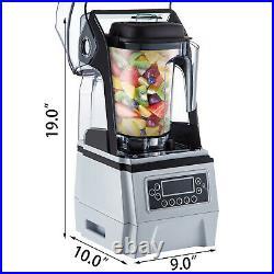 1.5L Commercial Blender Fruit Juicer Smoothie Maker Mixer with Soundproof Cover