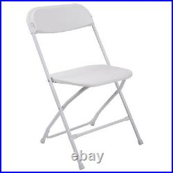 10 Pack Commercial Plastic Folding Chairs Wedding Party Stackable White