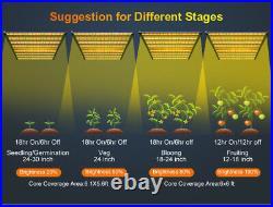 1000W Foldable LED Grow Light Pro 8Bar Commercial Medical Lamp VS Gavita/Fluence