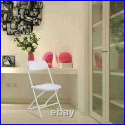 10PCS Plastic Folding Chairs Wedding Party Event Chair Commercial White