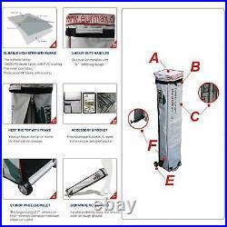 10x10 White Commercial Ez Pop Up Canopy Outdoor Folding Gazebo Event Vendor Tent