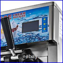 110V 3 Flavor Commercial Frozen Yogurt Soft Ice Cream Cones Maker Machine New