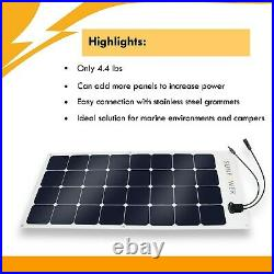 110W Flexible Authentic SunPower Brand Solar Panel Great for Marine and Camping