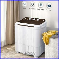 16.5LBS Portable Clothes Washing Machines Semi-Automatic Compact Washer Spinner