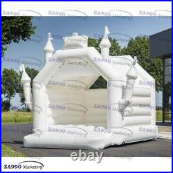16x16ft Inflatable White Bounce House Wedding Bouncer Castle With Air Blower
