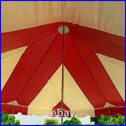 20x20 Pole Tent Weekender Event Party Canopy Red-White 14 Oz Commercial Vinyl