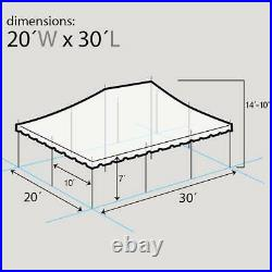 20x30' Pole Tent Event Party Premium Canopy Red-White Blockout Commercial Vinyl