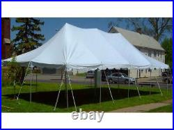 20x40' Pole Tent Event Party Premium Canopy White Block-Out Commercial Vinyl Top