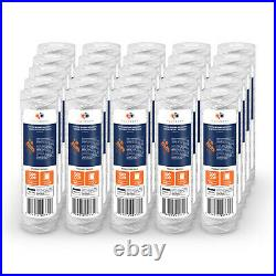 25-Pack of 5 Mic Wound String Sediment Water Filter Cartridges 10x2,5 for RO