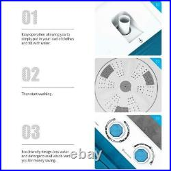 26Lbs Compact Mini Washing machine Small Twin Tub Laundry Washer with Drain Pump