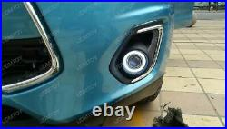 3 Projector Fog Light Lamps with 40-LED Halo Angel Eyes Rings + 12000K HID Combo