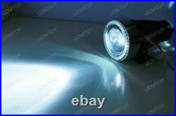 3 Projector Fog Light Lamps with 40-LED Halo Angel Eyes Rings + 8000K HID Combo