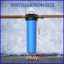 3-Stage Big Blue 20 Whole House System 1 Port+, Carbon, Sediment, String Filters