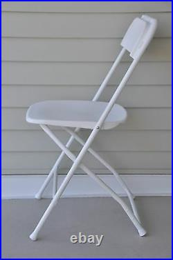 30 White Folding Chairs Commercial Stackable Wedding Party Event Rental Chair