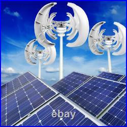 4500W Wind Turbine Generator 12V 4Blades Lantern Vertical Axis Permanent Magnet