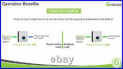 48V 6000W 120/240V Solar Inverter Growatt SPF LVM 9KW-160A MPPT + FREE SHIPPING