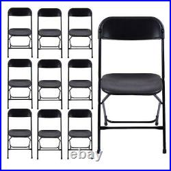 5/10PACK Commercial Wedding Quality Stackable Plastic Folding Chairs White/Black