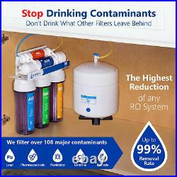 5 Stage Home Drinking Reverse Osmosis System Plus 7 Express Water Filter Clear