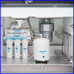 5 Stage Undersink Reverse Osmosis System Water Filter Plus Extra 7 Filters 75GPD