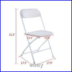 (5 to 25 PACK) Commercial Wedding Quality Stackable Plastic Folding Chairs White