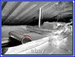 500 sqft Commercial Carport White Reflective Foam Core 1/8' Insulation Barrier