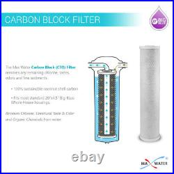 6 Big Blue 20x4.5 Whole House CTO Coconut Shell Carbon Block Water Filter