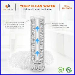 6-Pack of 5 Micron Wound String Sediment Water Filter Cartridges 10x2,5 for RO