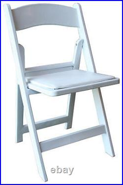 64 Commercial White Resin Folding Chairs Wedding Party Event Rental Chair
