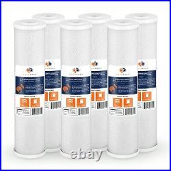 6PK of Aquaboon Big Blue 5µm Coconut Shell Carbon Block Water Filter 20x4.5