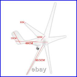 8000W Max Power 5 Blades DC 24V Wind Turbine Generator Kit with Charge-Controller