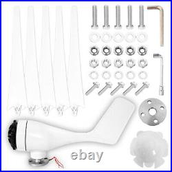8000W Max Power 5 Blades Wind Turbine Generator Kit with 24V Charge Controller