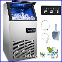 88lbs Commercial Ice Maker Ice Machine Ice Cube Machine 40kg with 17lbs Storage