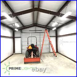 8ft Commercial LED Shop Light Fixture Garage, Warehouse, Daylight White 5000K