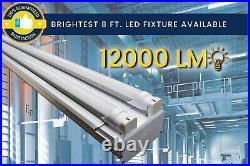 8ft Commercial LED Shop Light Fixture Garage, Warehouse, Retail Location 6500K