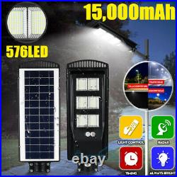 9900000LM 250W LED Solar Street Light Commercial IP67 Dusk to Dawn+Remote+Pole