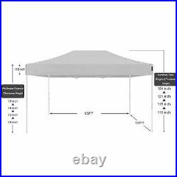 AMERICAN PHOENIX 10x15 Ft White Pop Up Canopy Tent Portable Commercial Instant