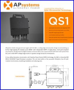 APsystems QS1 Single Phase Microinverter