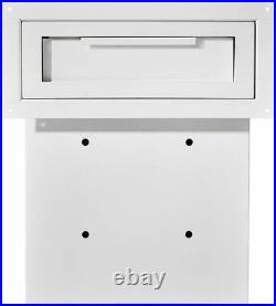 AdirOffice White Coated Steel Through-The-Door Safe Locking Drop Box Mailbox