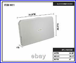 Alpine Industries Horizontal Mounted Fold Down Commercial Baby Changing Station