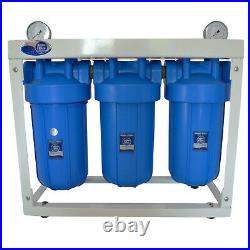 Aquafilter 10 Big Blue BB 3-Stage Whole House Water Filter System Housing