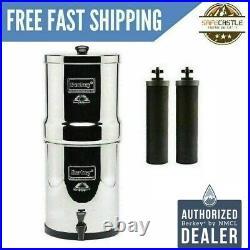 Big Berkey Water Filter Purifier with 2 Black Berkey Filters Free Shipping