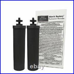 Big Berkey Water Filter with 2 Black Berkey Purifiers NEW