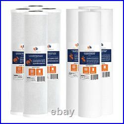 Big Blue CTO Carbon Block & Sediment 20x4.5 Replacement Filter Cartridges Set