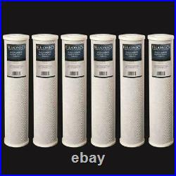 Bluonics 6-PK Carbon Block 20 x 4.5 Whole House Charcoal Water Filters 5 Micron