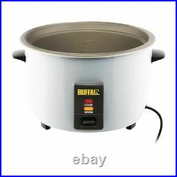 Buffalo Commercial Rice Cooker 4Ltr 1.55kW Rice Capacity 10 Ltr