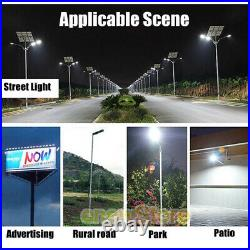 Commercial 1000000LM Outdoor Dusk to Dawn Solar Street Light IP67 Road Lamp+Pole