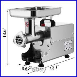 Commercial 176LBS/H Steel Meat Grinder 2 Knifes Butcher Shop Durability 250W