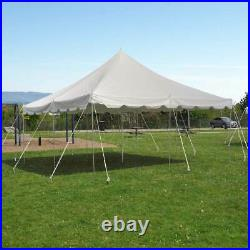 Commercial 20x20' Economy Pole Tent Wedding Event Party Canopy Waterproof Top