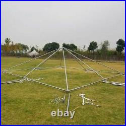 Commercial 20x20' Frame Tent White Vinyl Weekender West Coast Event Party Canopy